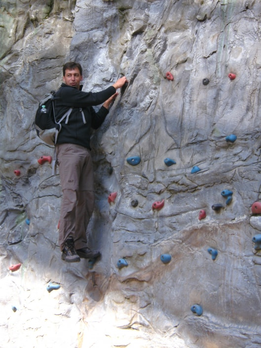Englmar 2015 Herr Pongratz Kletterwand