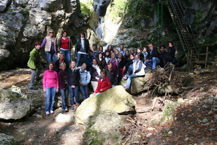 GRaz Gruppenfoto Wasserfall